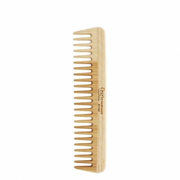 Grand peigne en bois de frêne dents large Tek