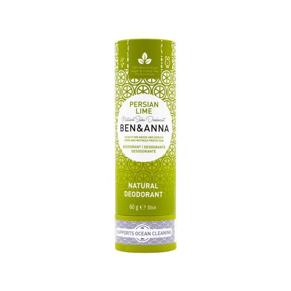 Déodorant Stick Persian Lime tube en carton Ben & Anna 60g