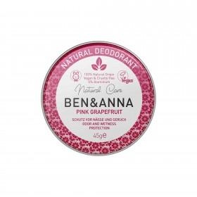 Crème Déodorante Pink Grapefruit en pot Ben & Anna 45g
