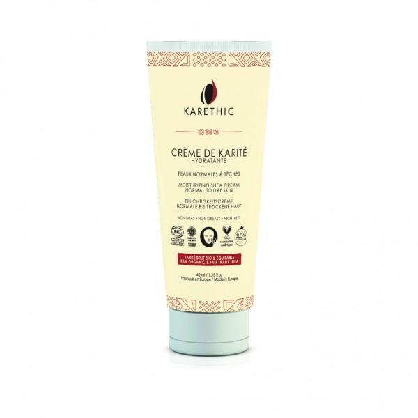 Crème de karité hydratante peaux normales et sèches Karethic 40 ml