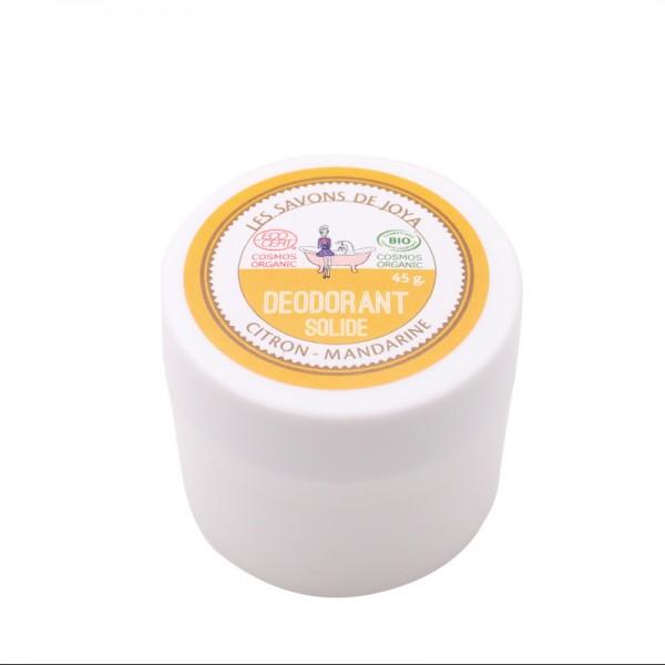 Déodorant solide Citron et Mandarine Les savons de Joya 45g