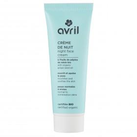 Avril crème de nuit bio peaux normales et mixtes Avril