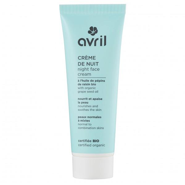 Avril crème de nuit bio peaux normales et mixtes