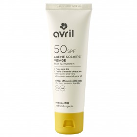 Crème solaire bio Visage SPF 50 Avril 50ml