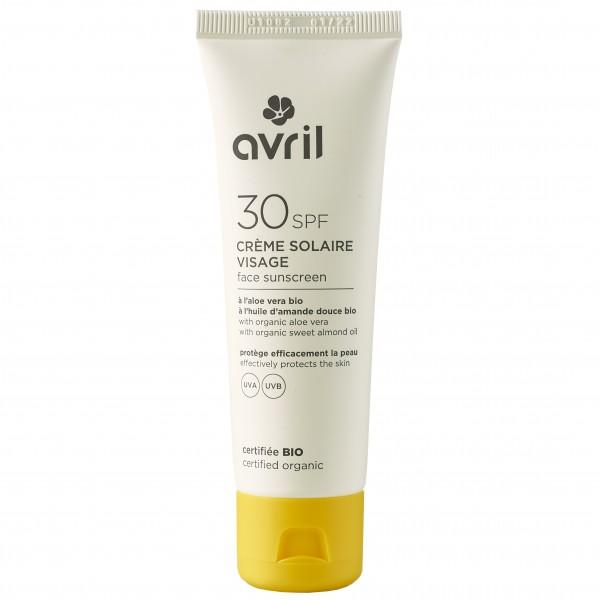 Crème solaire bio Visage SPF 30 Avril 50ml
