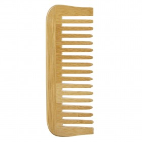 Peigne en bois de bambou dent large Avril