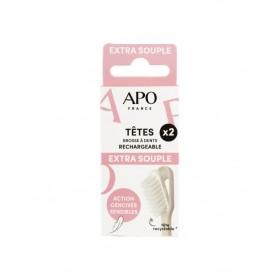 2 têtes de brosse à dents rechargeabke Extra souple APO
