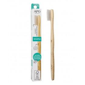 Brosse à dents manche bambou filament souple APO