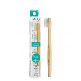 Brosse à dents Enfant manche bambou filament extra souple APO