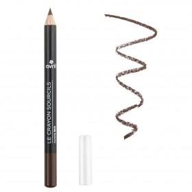 Crayon sourcils bio Chatain fonce ou brune Avril