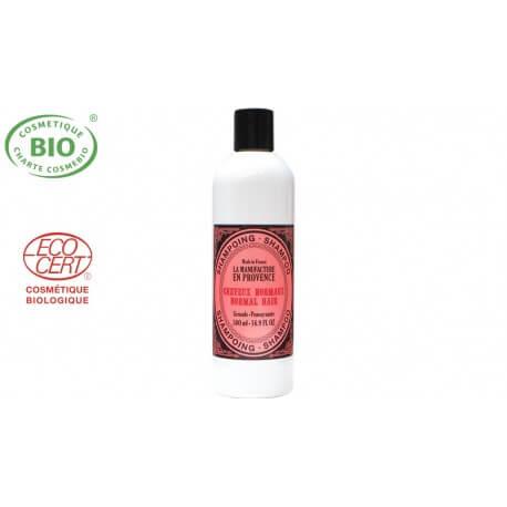 Shampoing Bio à la grenade pour cheveux Normaux La manufacture ne provence 500ml