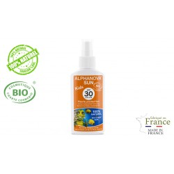 Spray protection solaire bio Enfant Haute protection SPF 30 Alphanova Sun 125g