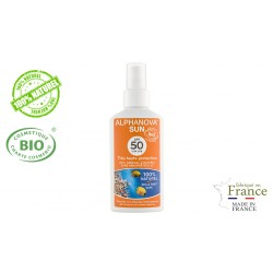 Spray protection solaire bio très haute protection SPF 50 Alphanova Sun 125g