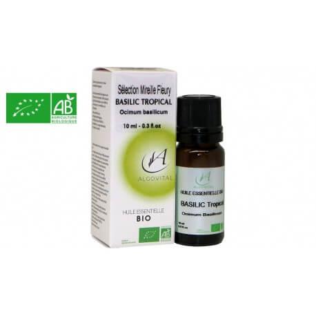 Huile essentielle bio basilic tropical AB 10ml Algovital