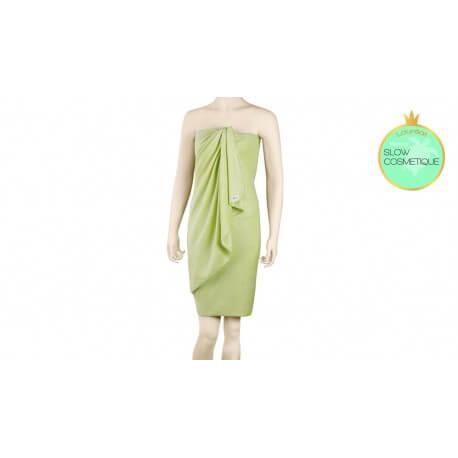 Coffret sortie de bain pareo serviette à cheveux et fleur de douche Bambou les tendances d'Emma