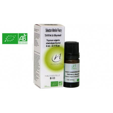 Huile essentielle bio Thym à thymol AB 5ml Algovital
