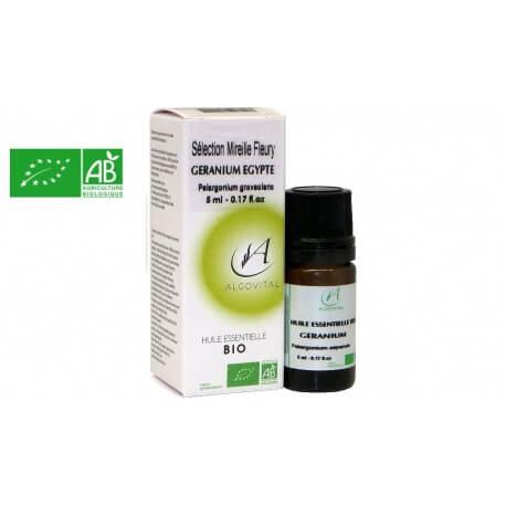 Huile essentielle bio Géranium Égypte AB 5ml Algovital