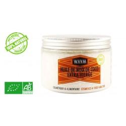 Huile de coco WAAM bio alimentaire cosmetique 350g