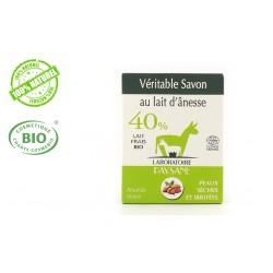 Savon au lait d'ânesse 40 % à l'amande douce bio laboratoire paysane