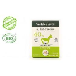 Savon au lait d'ânesse 40 % à la camomille  laboratoire Paysane