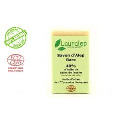 Savon d'alep Rare bio 40% Lauralep 150g