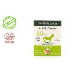 Savon au lait d'ânesse 40 % exfoliant laboratoire paysane 100g