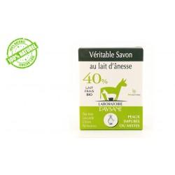 Savon au lait d'ânesse 40 % peau impure ou mixte laboratoire paysane