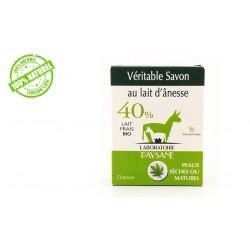 Savon au lait d'ânesse 40 % Chanvre laboratoire Paysane