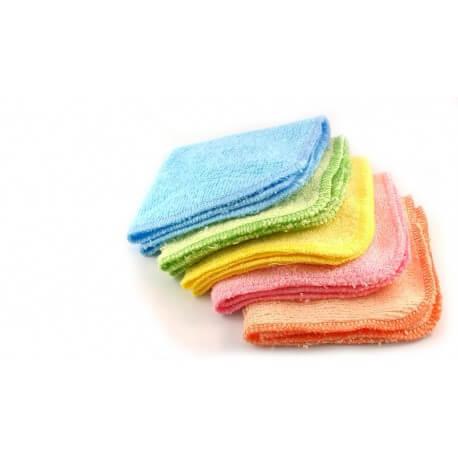 5 Debarbouillettes multi-usages lavables bambou multicolore Les tendances d'Emma
