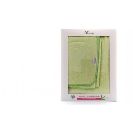 Coffret drap de bain et serviette vert