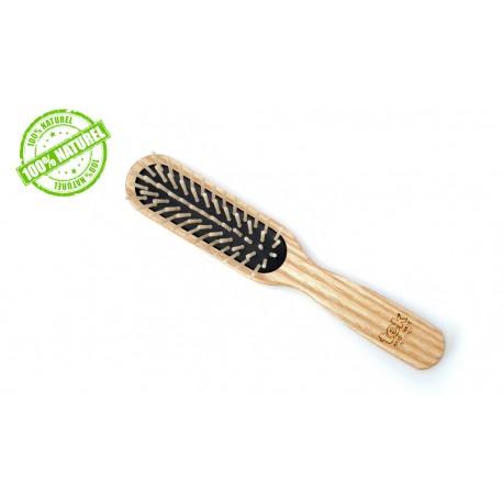 Brosse à cheveux bois rectangulaire Antistatique Tek