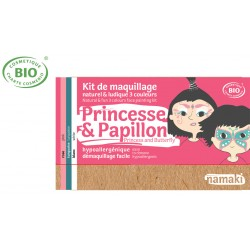 Kit maquillage bio 3 couleurs Enfants Princesse et Papillon Namaki