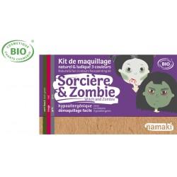 Kit maquillage bio 3 couleurs Enfants Sorcière et Zombie Namaki