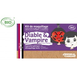 Kit maquillage bio 3 couleurs Enfants Diable et Vampire Namaki