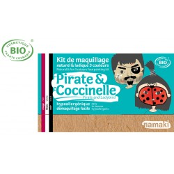 Kit maquillage bio 3 couleurs Enfants Pirates et Coccinelle Namaki