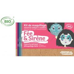 Kit maquillage bio 3 couleurs Enfants Fée et Sirène Namaki