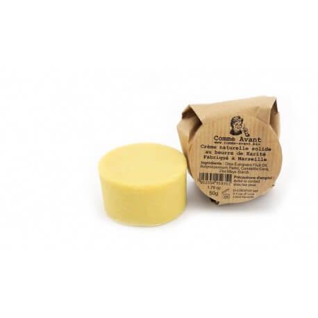 Crème naturelle solide au beurre de karité Comme Avant 25g