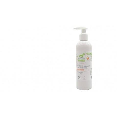 Savon liquide lait d'ânesse bio pétales de rose argan Laboratoire Paysane 250ml