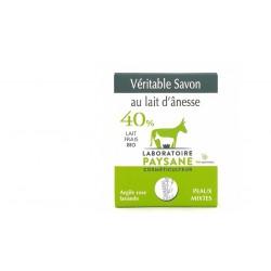 Savon au lait d'ânesse 40% Argile Rose Lavande laboratoire paysane