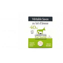 Savon au lait d'ânesse 40% amande amère monoi de tahiti laboratoire paysane