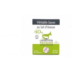 Savon au lait d'ânesse 40% cerise du limousin laboratoire paysane