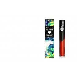 "Rouge à lèvres liquide vegan et naturel Rouge orangé 886 ""SHAKE THE GROUND"" All Tiger"