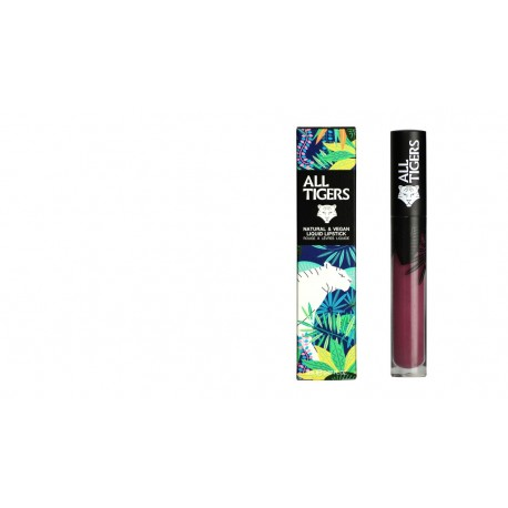 "Rouge à lèvres liquide vegan et naturel Violet 980 "" FEEL THE POWER"" All Tiger"
