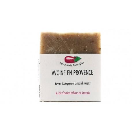 Savon avoine en provence savonnerie Aubergine 100g