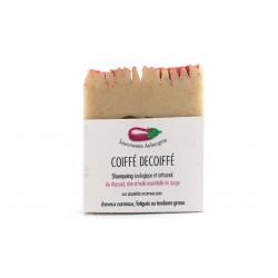 Shampoing coiffé décoiffé savonnerie Aubergine 100g