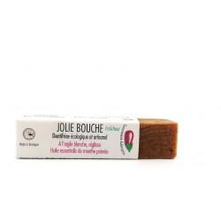 Dentifrice solide jolie bouche Fraicheur savonnerie Aubergine 33g