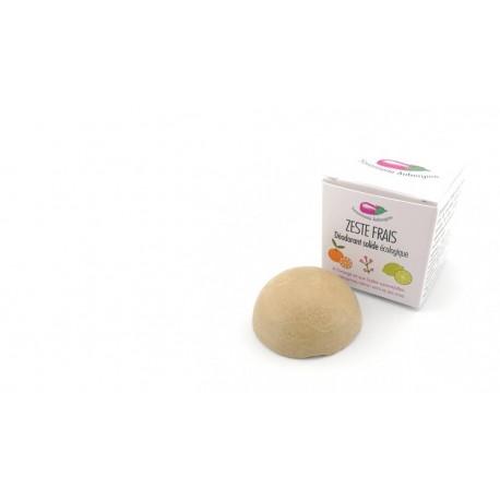 Déodorant solide Zeste Frais la savonnerie aubergine 30g