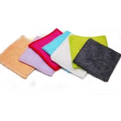 7 carrés démaquillants lavables en fibre de bambou Fibao