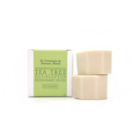 2 recharges déodorant solide 30ml Tea tree la savonnerie du nouveau monde