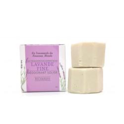 2 recharges déodorant solide 30ml lavande fine la savonnerie du nouveau monde